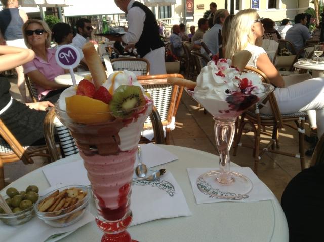 Мороженое в Кафе де Пари, Монако