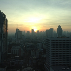 Baiyoke sky sunset