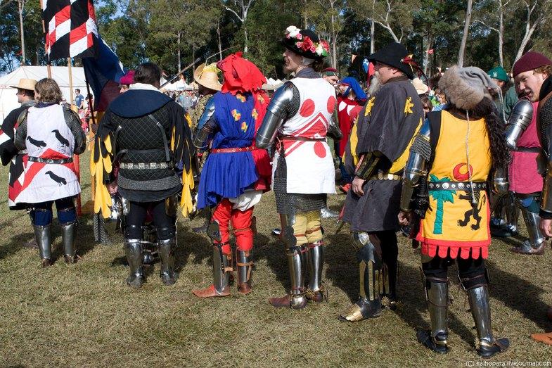 Фестиваль в Австралии в стиле средневековья